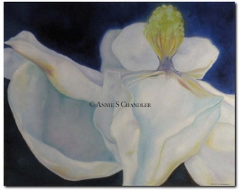 Magnolia Oil Painting - GICLEE PRINT