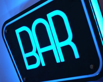 Bar Sign Illuminated / Night Light / Wall Decor Lamp