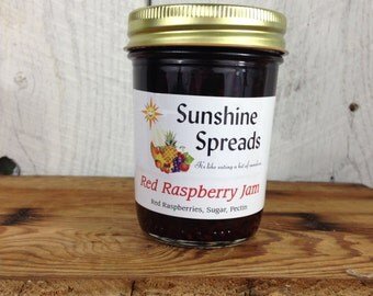 Red Raspberry Jam, 8 Ounce Jar, Amish Made
