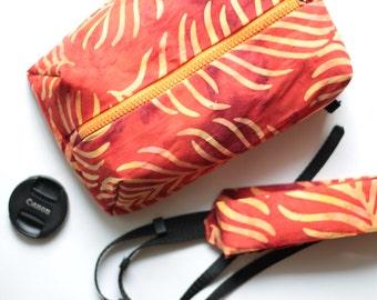 Canon Nikon Camera case + Сamera strap set DSLR Padded bag for Women Shoulder/neck/crossbody pouch insert Zip purse Handmade gift for her