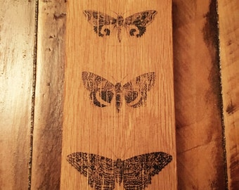 Butterfly print on wood wall art
