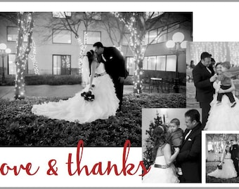 DIGITAL* Wedding Thank You Card