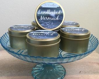Landlocked Mermaid Soy Candle Tin