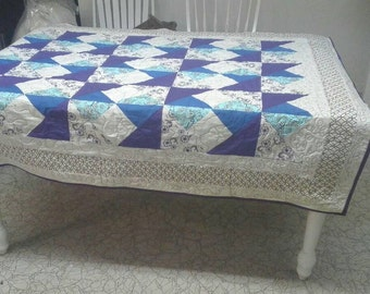 Plum Crazy Quilted Throw