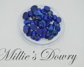 Lapis Oval Cab 6x8mm - Vibrant Blue