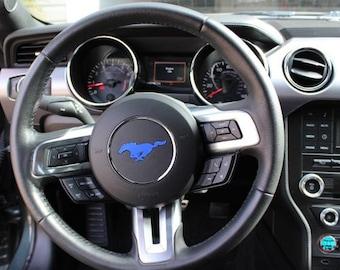 2015+ Mustang Wheel Sticker Blue