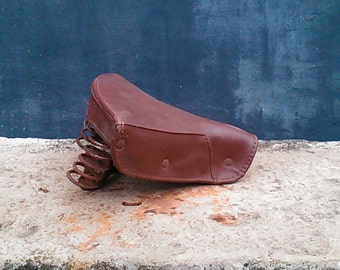 Saddle Brown leatherette for moped vintage 40s 50s S