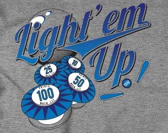 Light 'Em Up Classic Pinball T-Shirt