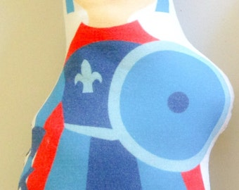 Doudou playmobil liberty adeladja blue