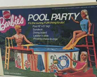 1973 Barbie's Pool Party FREE SHIPPING