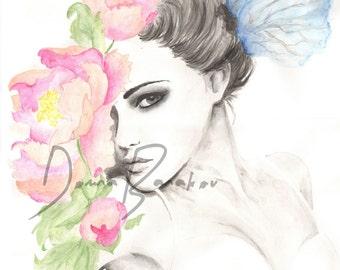 Flower Fashion Illustration