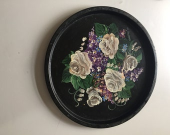 Round Hand Painted Tray