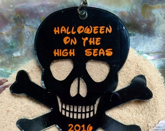 Halloween on the high seas key chain