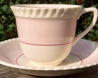 Pretty In Pink- Johnson Bros Old English Teacup and Saucer