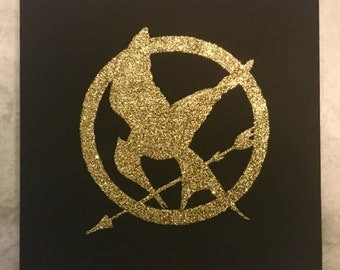 The Hunger Games Glitter Painting