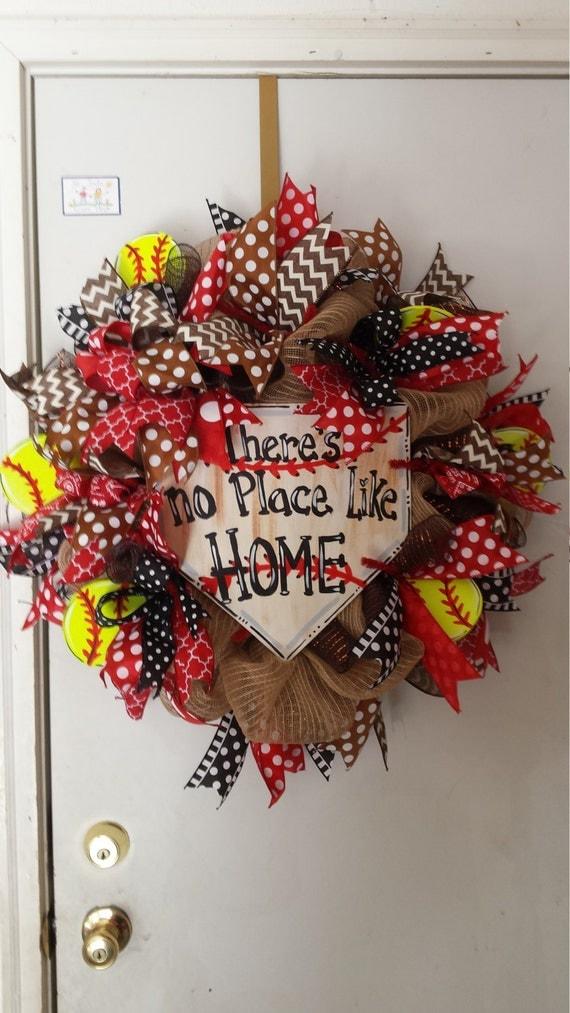 Softball Wreaths Sports Wreath Burlap Wreath Softball