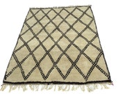 100% Authentic Handwoven Berber Moroccan Beni Ourain Rug all natural organic undyed wool