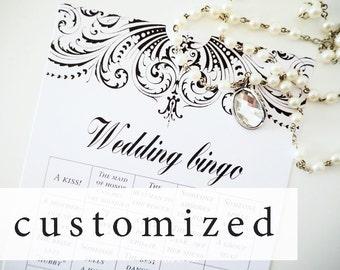 Customized wedding bingo printable Summernight