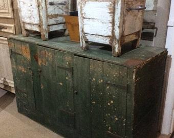 Large Industrial Painted Cupboard