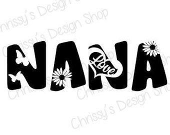 Nana Knockout design SVG download for Silhouette in Studio3 download / mom SVG download /Nana vinyl crafting for decals