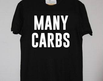 Many Carbs Tee BLACK