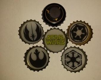 Star Wars Bottle Cap Magnet Set