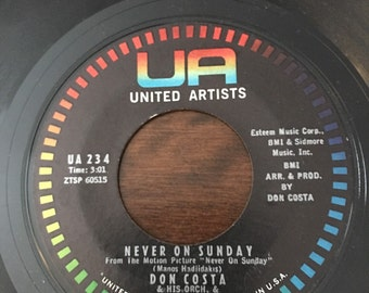 Don Costa  Never On A Sunday / The Sound of Love