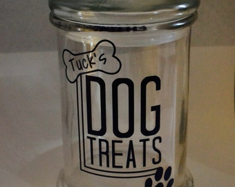 Customizable Dog Treat Jar