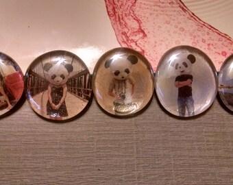 Panda People Magnets (set of 5)