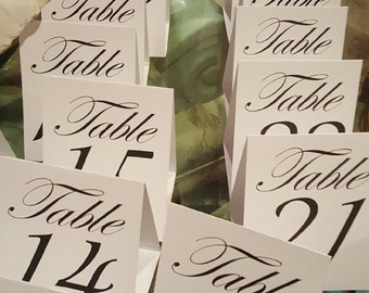 Table Cards Numbers 1-30 - No Assembly Required