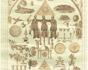 Templars Chart - Masonic Chart - Wall Poster