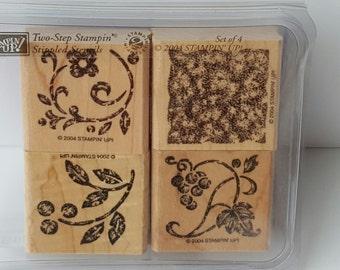 Stippled Stencils - Stampin' Up! Rubber Stamp Set