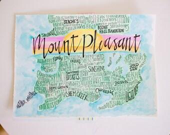 Mount Pleasant Handwriting Print