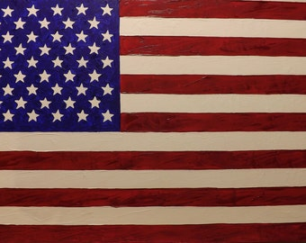 Independence, oil painting, american flag, USA