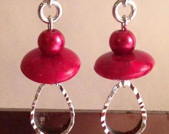 Earrings red nun