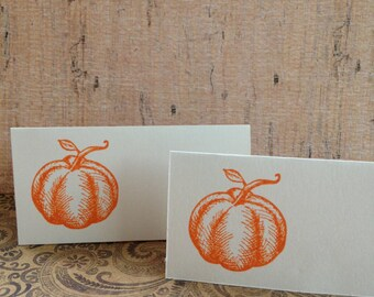 Fall Place Cards/Autumn Place Cards/Thanksgiving Table Place Cards/Pumpkin Place Cards/Table Setting Cards/Set of 8