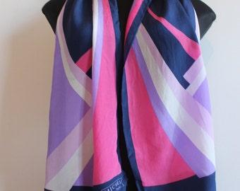st michel vintage silk long neck scarf