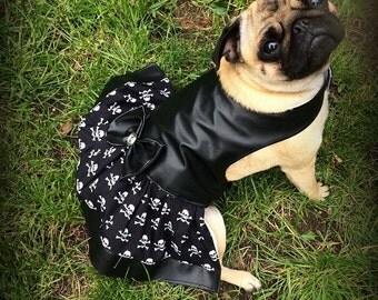 Skulls 'n' Shine Rock Dog Dress - Handmade In UK