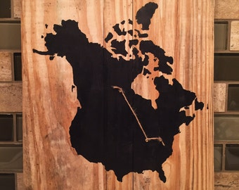 United States-Canada Map