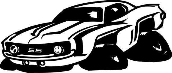Muscle Car Svg File Cricut Silhouette