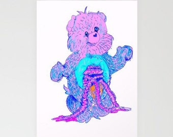Care Bear Guts Greeting Card