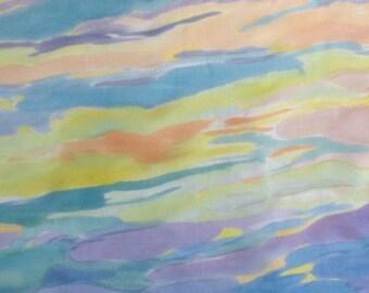 Cloth of silk 100%, ponge 5, 140 x 45 cm