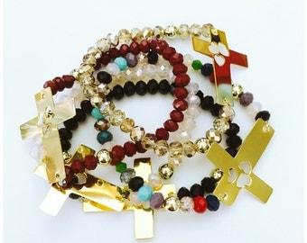 Cross Crystal Bracelet