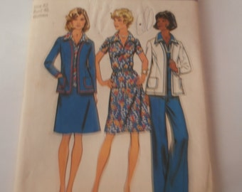 Simplicity Sewing Pattern 6167 Woman's Jacket, Top, Skirt, Pants, size 42