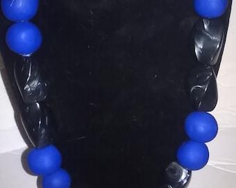 Upcycled Mixed media bead necklace