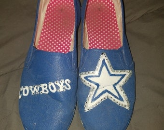 NFL custom painted shoes