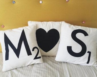Scrabble Letter Pillow