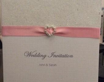 50 Hand Made Wedding Invitations