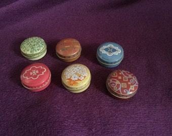 Collection of miniature solid perfumes by Yves Rocher