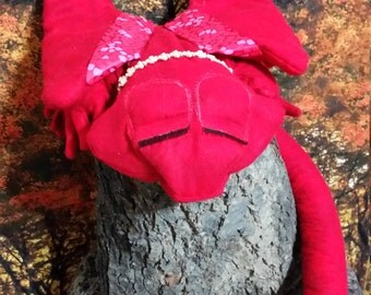 Adopt me! Sleeping Red Fire Dragonlet ready for adoption